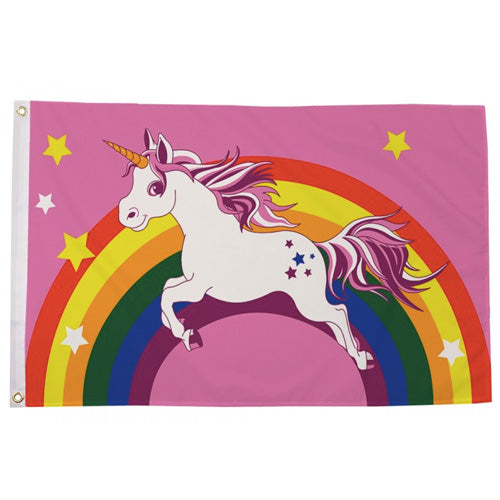 Unicorn Rainbow Flag (5ft x 3ft Premium)