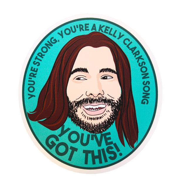 Jonathan Van Ness Vinyl Waterproof Sticker