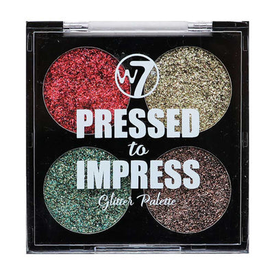 W7 Pressed To Impress Glitter Palette - In Vogue