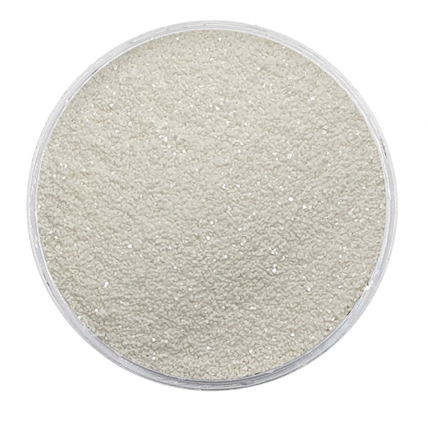 MUOBU Biodegradable White Glitter - Fine Metallic Glitter