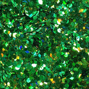 Green Festival Glitter (Holographic Chunky Glitter Mix) - Wicked Green