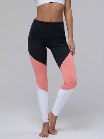 The Track Legging by Onzie in Peach / Slate Combo
