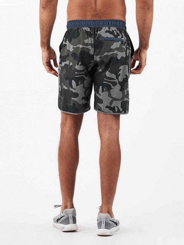 Banks Short in Grey Camo by Vuori