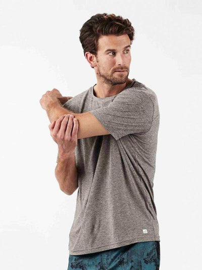 Strato Tee by Vuori in Heather Grey