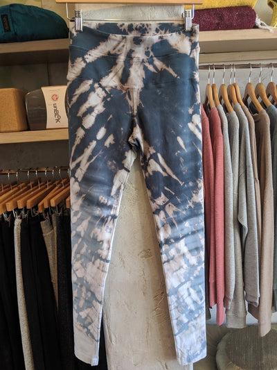 Limited Edition High Waisted Yoga Leggings by Hard Tail Skeleton Tie-Dye