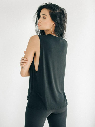 Iconic Tank by Joah Brown in Black - back view