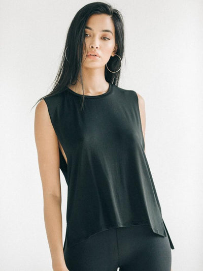 Iconic Tank by Joah Brown in Black - front view