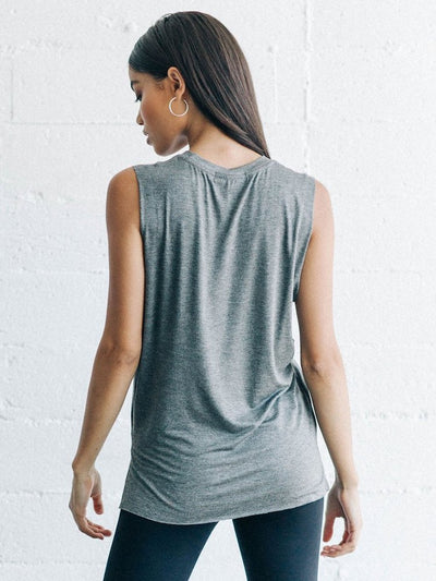 Iconic tank by Joah Brown in Gravel - Back view