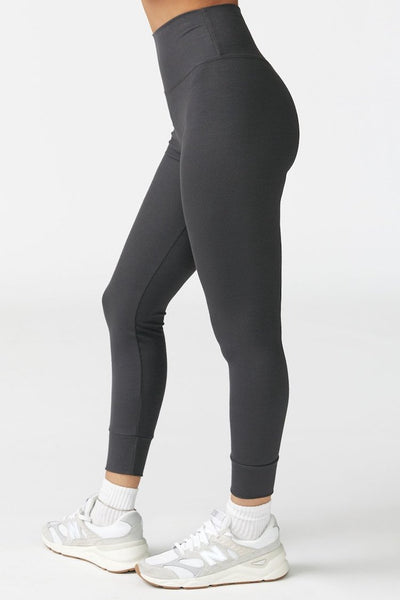 Balance Legging by Joah Brown in Charcoal Flexrib - Side view