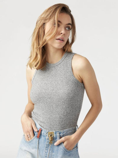 The Body Tank by Joah Brown in Salt & Pepper Hacci Rib