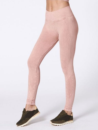Mesa Legging by Nux in Not Nude (Peach) - side view