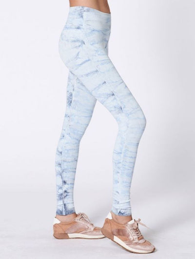 Hand Dyed Mesa Legging by Nux - Sky High (Side)