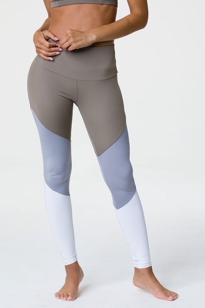 Sporty Legging by Onzie in Dust / Fossil Combo