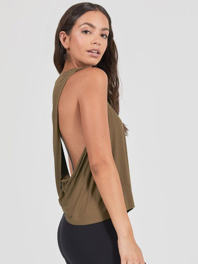Exhale Tank in Olive by Joah Brown