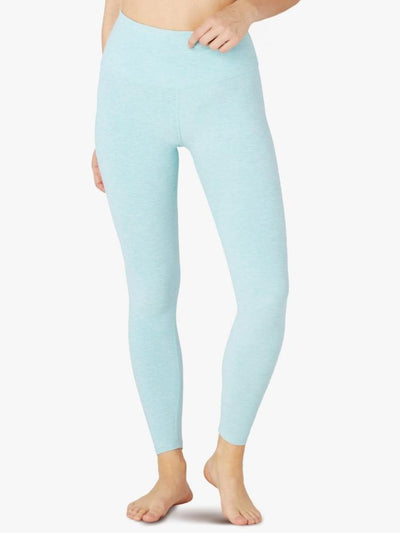 High Waisted Spacedye Caught in the Midi Legging Island Topaz-White