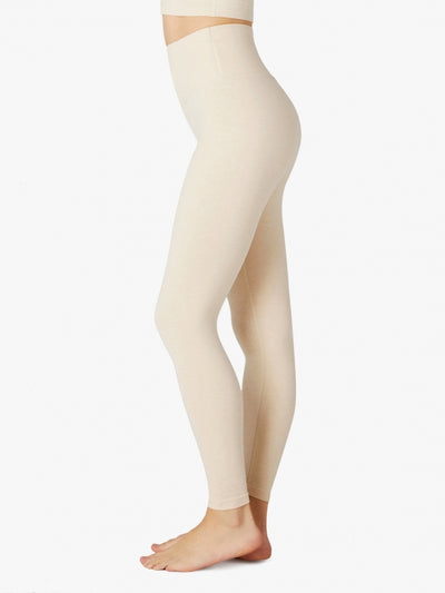 High Waisted Spacedye Caught in the Midi Legging Sandstone-Almond