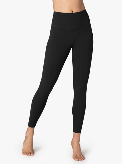 High Waist Caught in the Midi Legging by Beyond Yoga in Jet Black