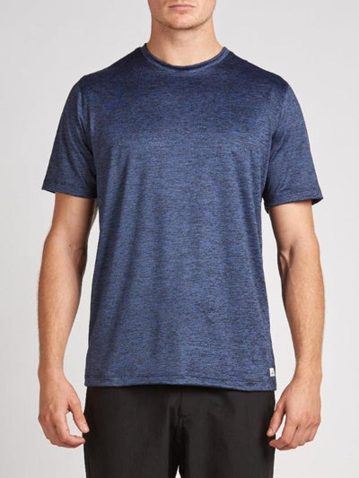 Strato Tee by Vuori in Navy Heather