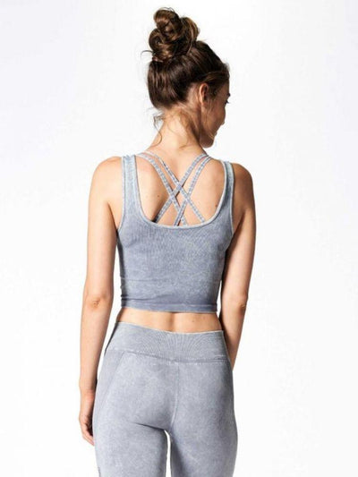 Mineral Wash Be Free Tank in Stone by Nux
