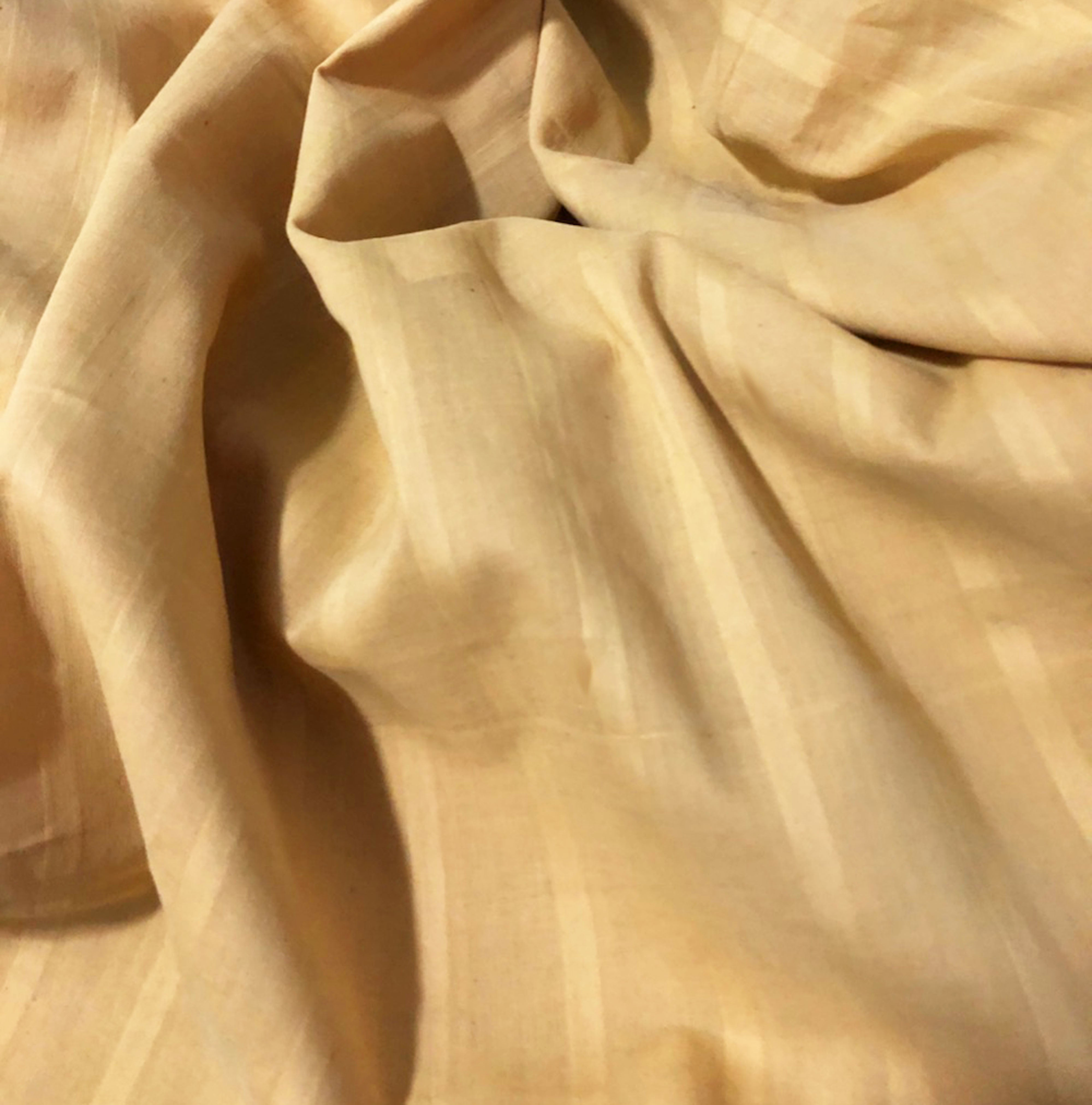 Lightweight Striped Khadi (anar yellow)