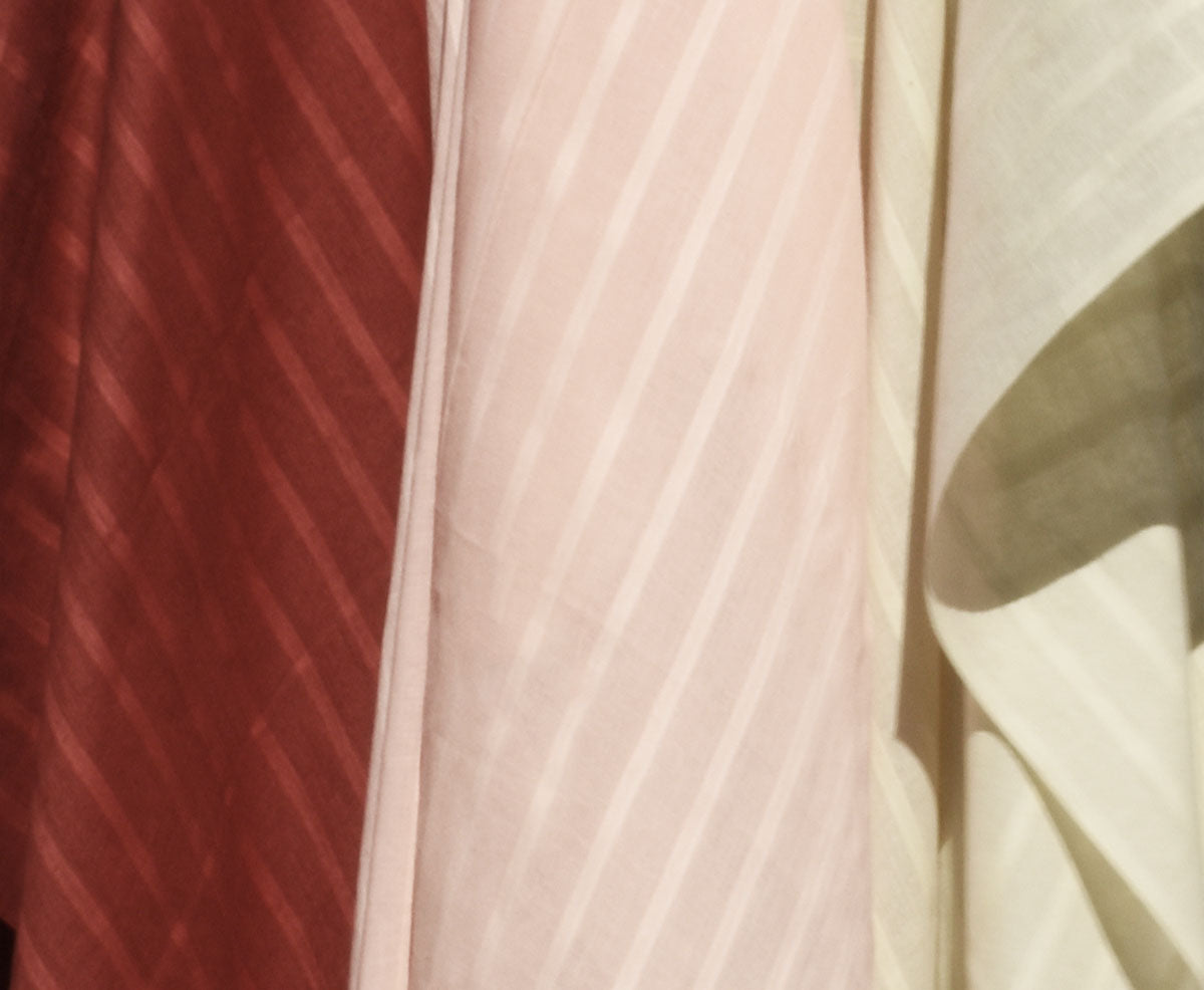 Lightweight Striped Khadi (rose quartz)
