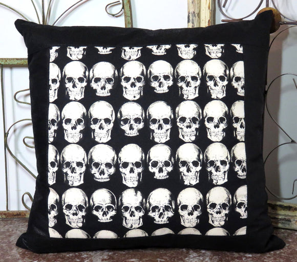 Catacomb Skulls Pillow ~ Large Decorative Throw Pillow