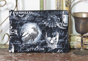 Shakespeare and Poe Purse ~ Spells Witches Ravens Skulls ~ Wiccan