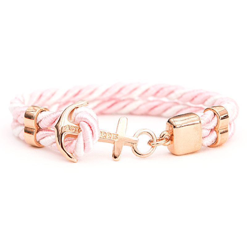 Pink Blossom Handmade anchor bracelet in Swedish design