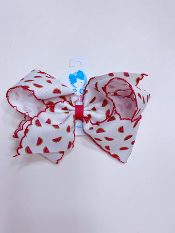 King Watermelon Print Bow