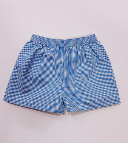 Blue Check Bennett Shorts