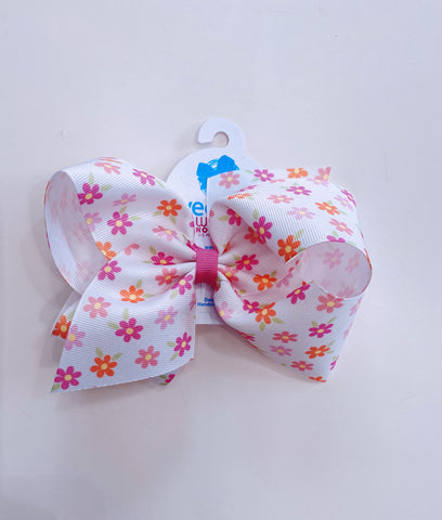King Flower Print Bow