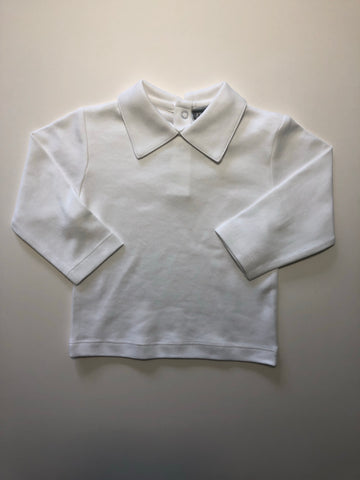 Boy's Long Sleeve White Knit Top