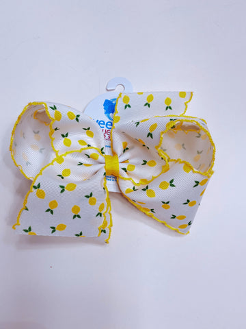 King Lemon Print Bow