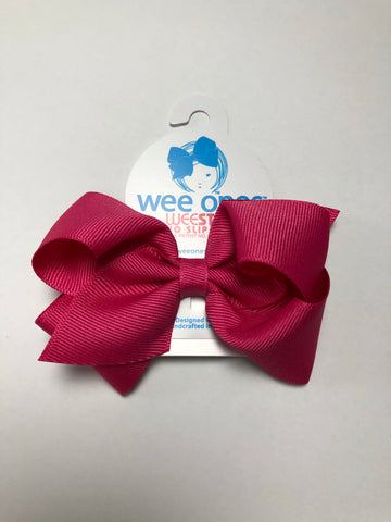 Small Basic Bow Shocking Pink