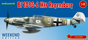 Eduard Aircraft 1/48 Bf109G6 Mtt Regensburg Fighter Wkd. Edition Kit