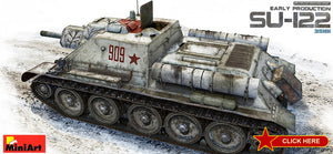 MiniArt Military Models 1/35 Soviet Su122 Early Production Self-Propelled Tank Kit