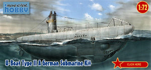 Special Hobby Ships 1/72 U-Boat Type II A German Submarine Kit