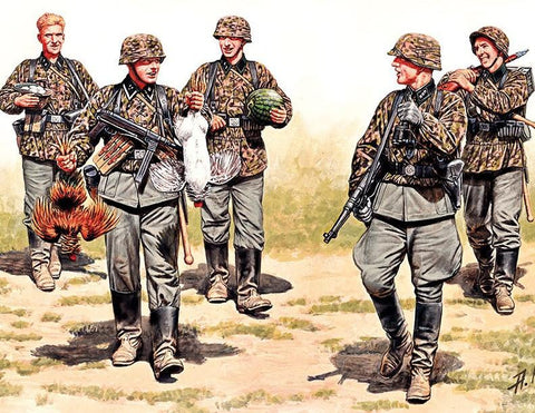 Master Box Ltd 1/35 WWII German Elite Infantry Eastern Front (5) Kit