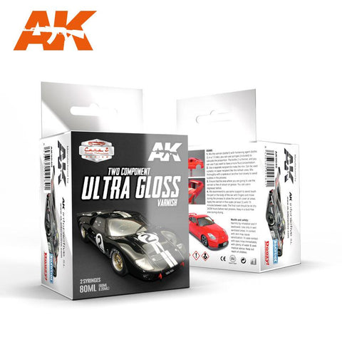 AK Interactive Cars & Civil Vehicles Series: Two-Part Component Ultra Gloss Varnish 80ml