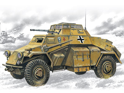 ICM Military 1/72 WWII SdKfz 222 Light Armored Vehicle Kit