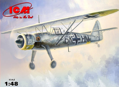 ICM 1/48 WWII German Recon Hs126B1 Plane Kit