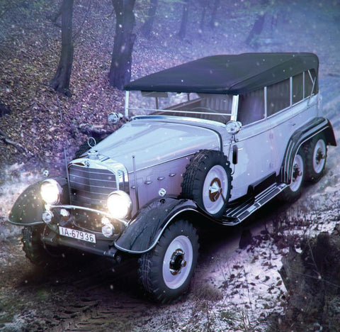 ICM 1/24 WWII German G4 Personnel Car w/Open Cover Kit