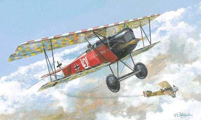Roden 1/72 Fokker D VIII (OAW) Early BiPlane Fighter Kit