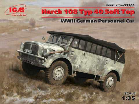 ICM 1/35 WWII German Horch 108 Type 40 Soft Top Personnel Car Kit