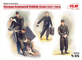 ICM Military 1/35 German Armored Vehicle Crew 1941-42 (4 w/Cat) Kit