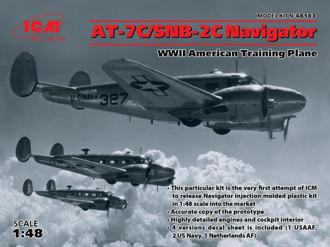 ICM Aircraft 1/48 WWII AT7C/SNB2C Navigator American Training Aircraft Kit
