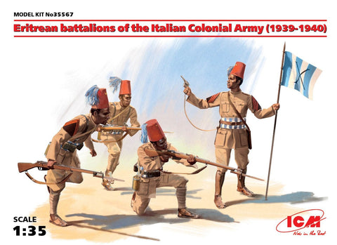 ICM 1/35 Eritrean Battalions of the Italian Colonial Army 1939-40 (4) (New Tool) Kit