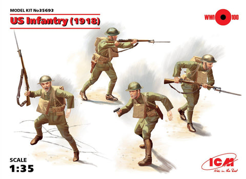 ICM Military 1/35 WWI US Infantry 1918 (4) Kit