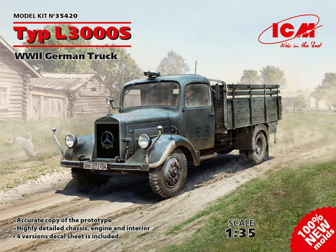 ICM Military Models 1/35 WWII German Type L3000S Truck Kit (New Tool)