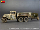 MiniArt 1/35 WWII Soviet 2-Ton 6x4 Truck & 76mm USV-BR Gun (New Tool) Kit
